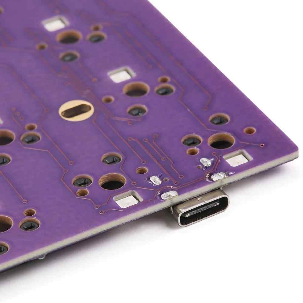 DZ68 RGB Hot Swap PCB Antarmuka Tipe C untuk DIY Keyboard Mekanik Cocok TADA68/Tofu65