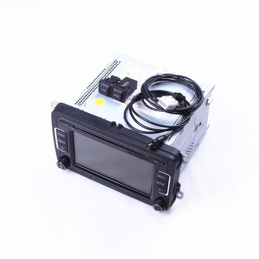 COSTLYSEED Original RCD510 Car Radio USB & AUX Plug & Cables & Code CD MP3 For VW Jetta Golf MK6 Passat B6 Scirocco Touran POLO