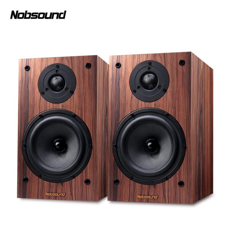 Nobsound DM3 bois 120 W 1 paire 6.5 pouces bibliothèque haut-parleurs 2.0 HiFi colonne son maison haut-parleur professionnel