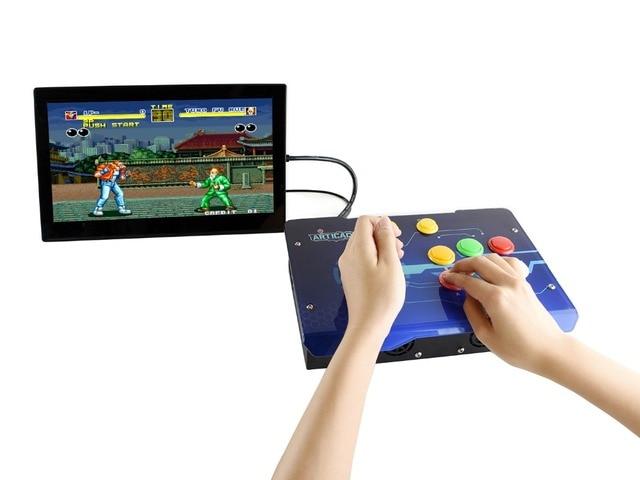 Waveshare Arcade C 1P Zubehör Pack Arcade Konsole Gebäude Kit für Raspberry Pi 1 Player Unterstützt RetroPie/KODI