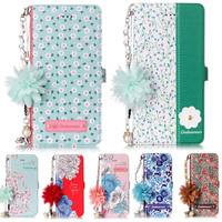 YiKELO Flower Flip Wallet Leather Case For IPhone X 8 7 6S Plus 5 5s SE