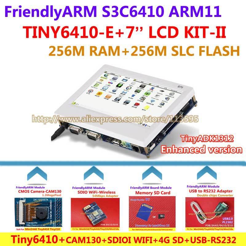 FriendlyARM ARM11 Board Kit II Enhanced TINY6410 7 inch LCD WIFI CMOS Camera 4G SD Card