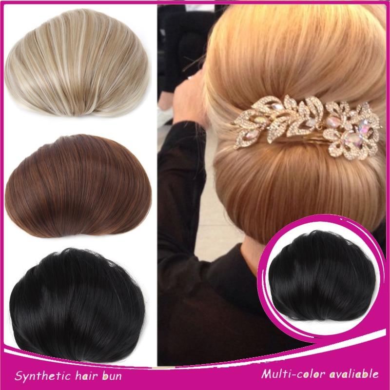 Bun Chignon Clip In Hair Bun Bridal Hair Chignon Updo ...