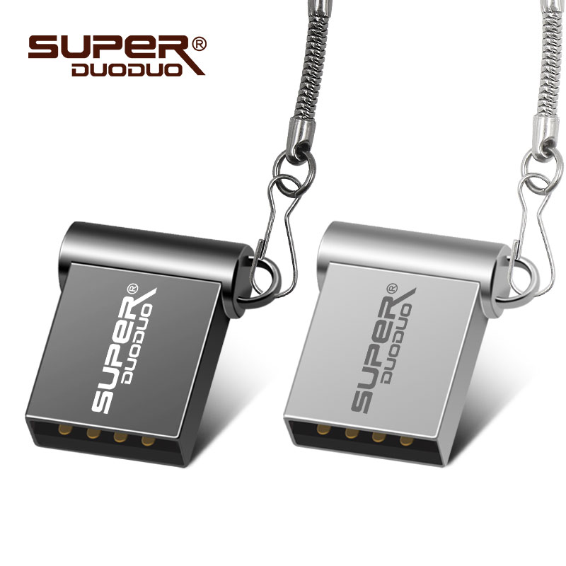 Super mini metal usb flash drive 64GB 32GB 16GB 8GB 4GB flash drive portable 128GB memory stick Pendrive Storage flash disk(China)