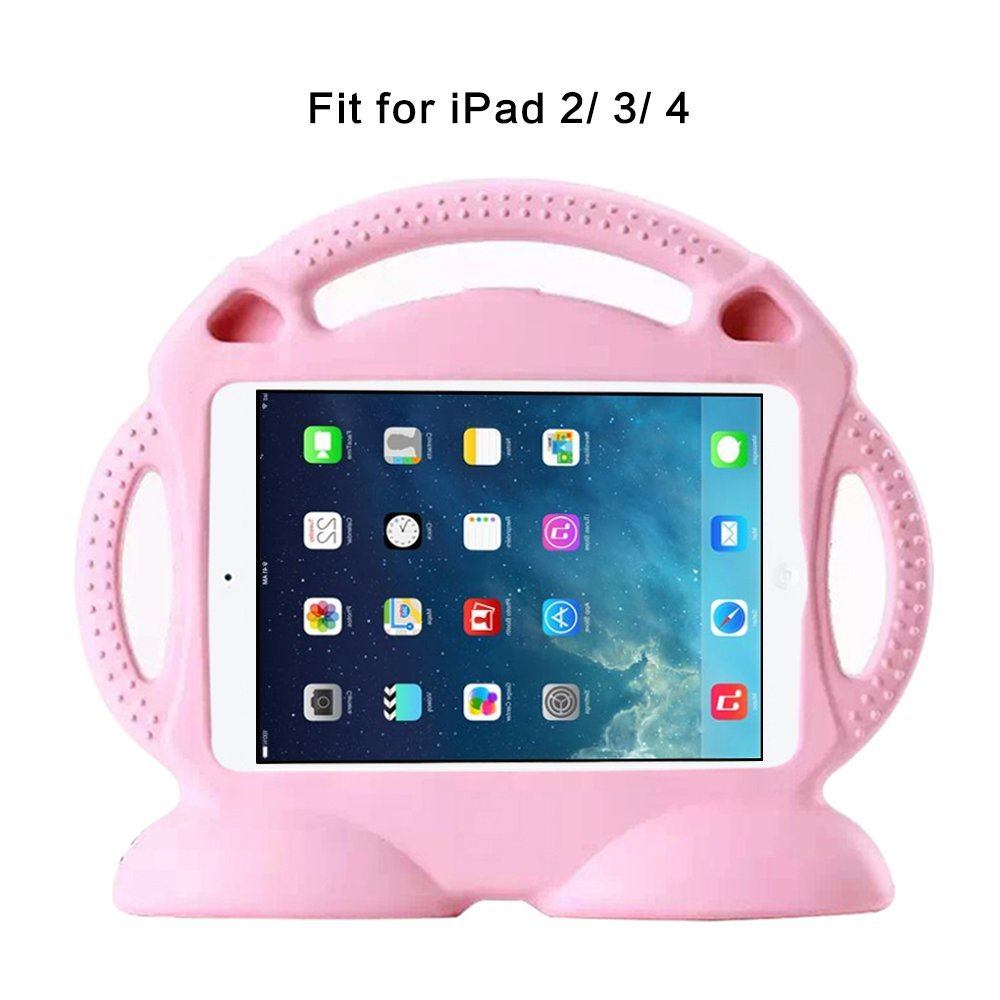 Silicone Case for ipad 2 3 4 EVA foam Soft Case Cartoon 3D Thomas Train Stand Cover for iPad 2 Case with 3 handles for kids in Tablets e Books Case from Computer Office