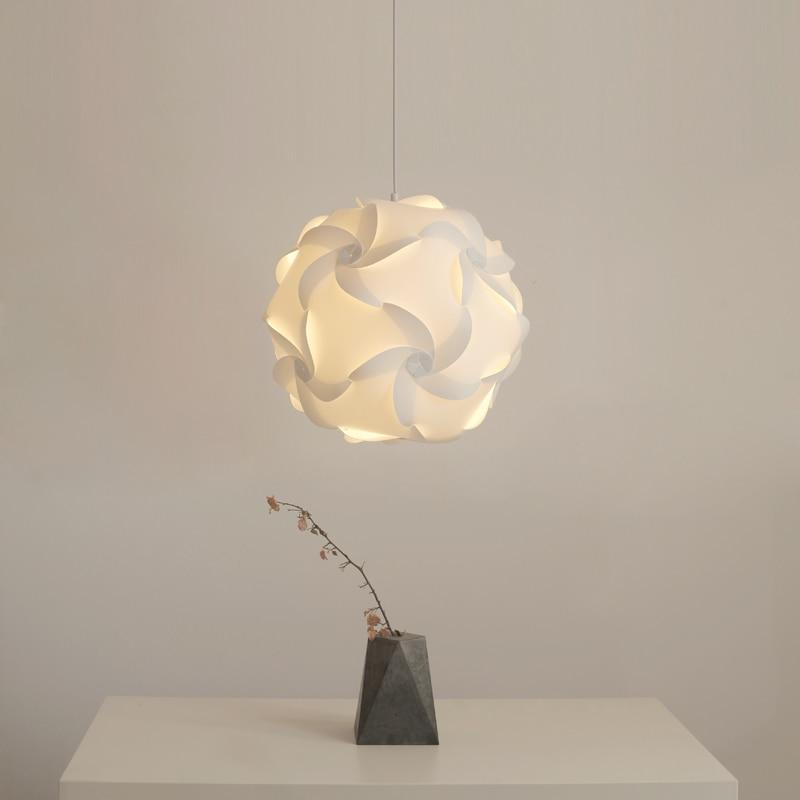Carved Bouquet Bedroom Lamp European Modern E27 Minimalist Living Room DIY Elements IQ Puzzle Pendant Lights
