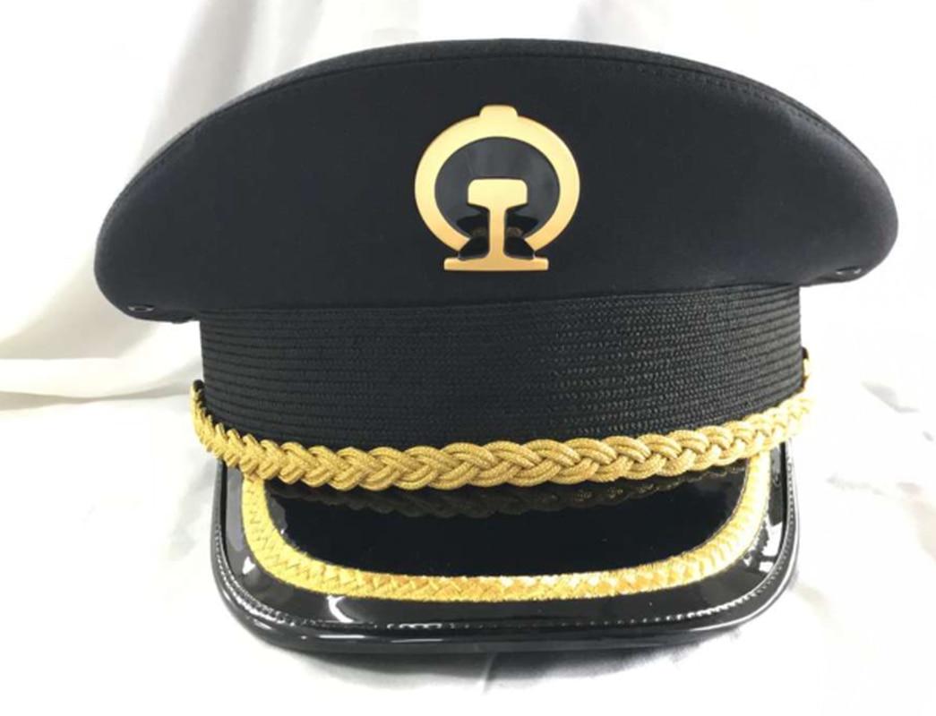 Railway Spring and Autumn Big Cap Uniform Cap Vintage Hat Fedora Hat for Woman Wide Brim Hat