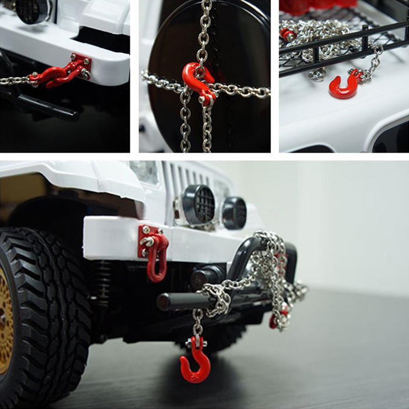 Rescue Tow Hook 1//10 Scale for Crawler Car Trailer Chain Assemble Daily Use RC Cars Annadue Trailer Safety Chain Trailer Chain Parts Metal U Shaped Tow Chain
