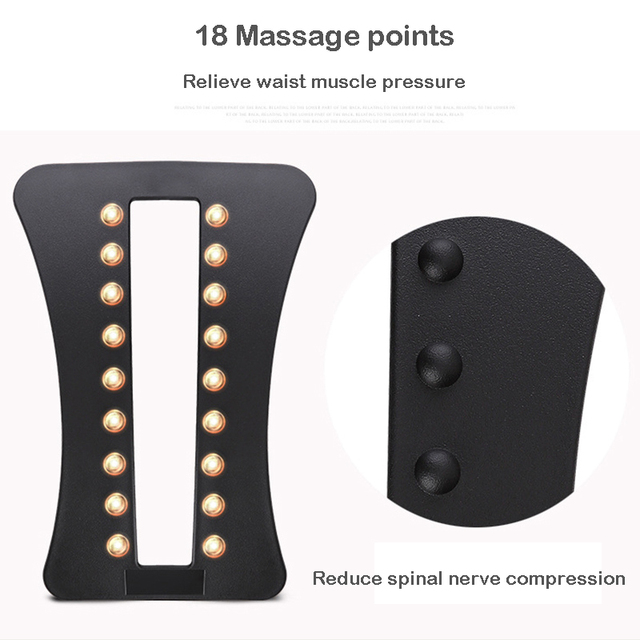 Back Massager Stretcher Relieve Spine Pain Chiropractic Health Care Relaxation Lumbar Relief Acupuncture Massage Dropshipping 3