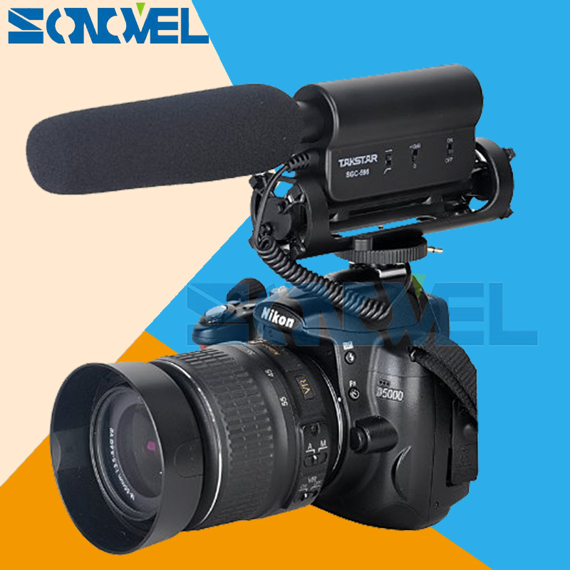 TAKSTAR SGC-598 Photography Interview MIC Microphone for Nikon D7500 D7200 D5600 D5500 D5300 D3300 D810 D750 D610 D500 D5 D4s jjc camera wired remote controller cord shutter release cable for nikon d7500 d7200 d750 d500 d800 d810 f100 d5500 d5600p7700
