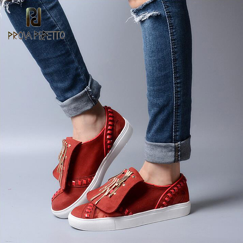 Prova Perfetto Genuine Leather Students Shoe Studded Lace Up Solid Color Metal Decor Fashion Shoe Casual Flat Shoes цена