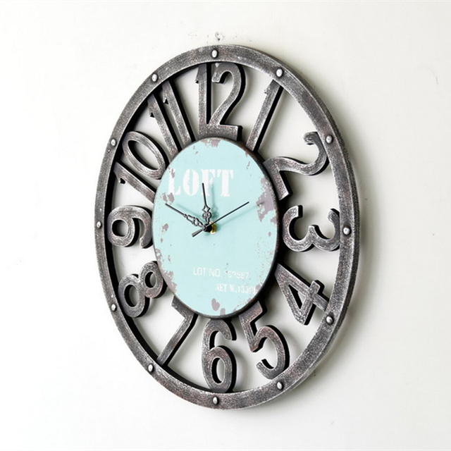2015 Limited Clocks Antique Style Home Decorative Wooden Mute Round Wall Clock Printed Britain Flag Quartz Watch For Decoration