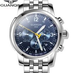 2019 oryginalny GUANQIN zegarki mechaniczne dla mężczyzn mężczyzn luksusowych marek pełna stal wodoodporna 100m biznes automatyczne zegarki na rękę dla mężczyzn