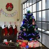 Arbol de Navidad LED luces y decoracion copo de nieve iluminacion multicolor artificial fibra 90cm CM20541