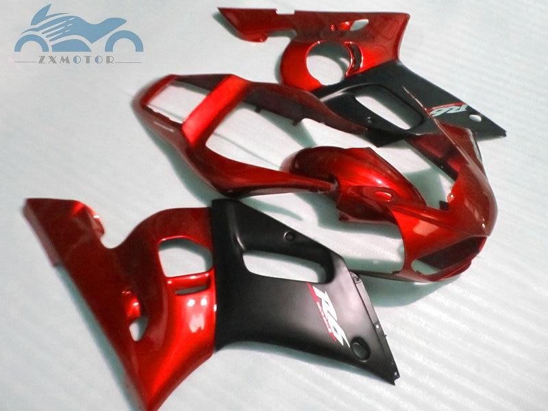 Personnalisé que vous avez besoin kit de carénages de moto pour YAMAHA R6 YZFR6 1998-2002 YZF R6 98-02 carénage de corps de course de sport rouge noir EB65 - 3