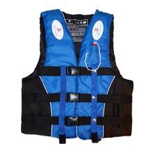 Высокое качество для взрослых и детей спасательный жилет плавание катание на лодках и сёрфинг парусный спорт плавательный жилет полиэстер Защитная куртка