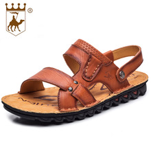 BACKCAMEL Natta Camel Head Layer of Leather Cool Slippers High-end Casual Genuine Beach Shoes Size38-44