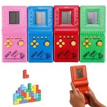 Retro Classic Childhood Tetris Handheld Game Players LCD Ele