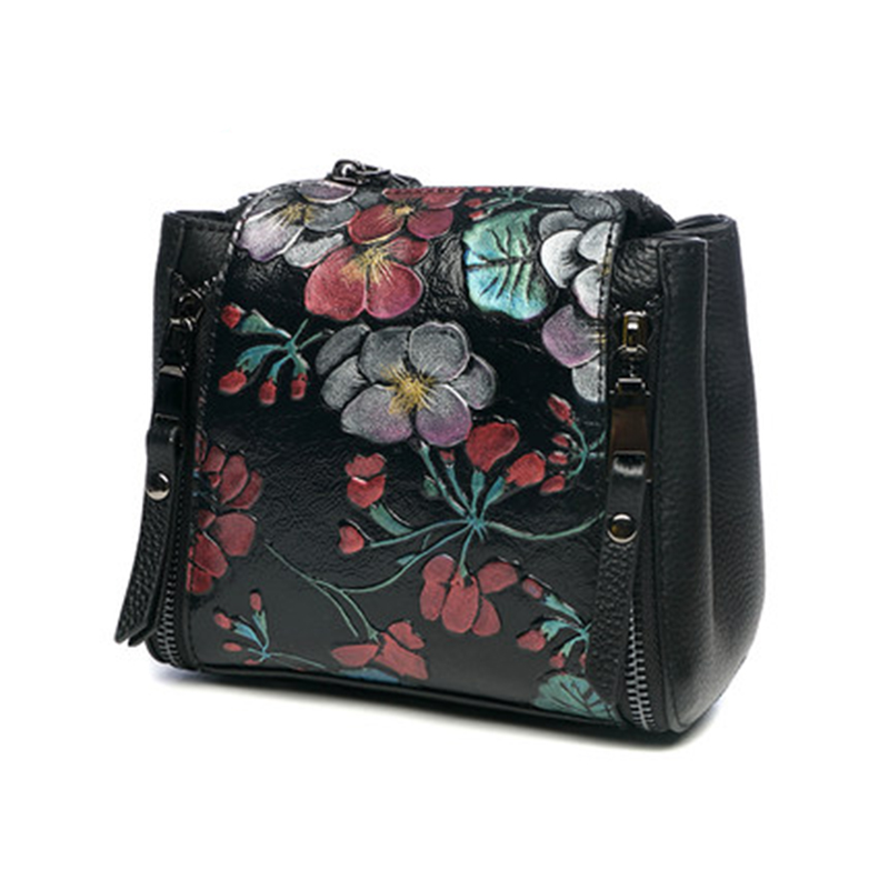 Luxury Genuine Leather Women Bag High Quality 100% Real Cow Leather Women Messenger Shoulder Bags Embossing Small Crossbody Bag hongu genuine leather women messenger bag high quality cow leather small crossbody shell bag women fashion shoulder bag