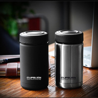400ml Business Style Stainless Steel Thermos Mugs Car Vacuum Flasks Coffee Tea Cups Thermol Water Insulated Bottle Tumbler