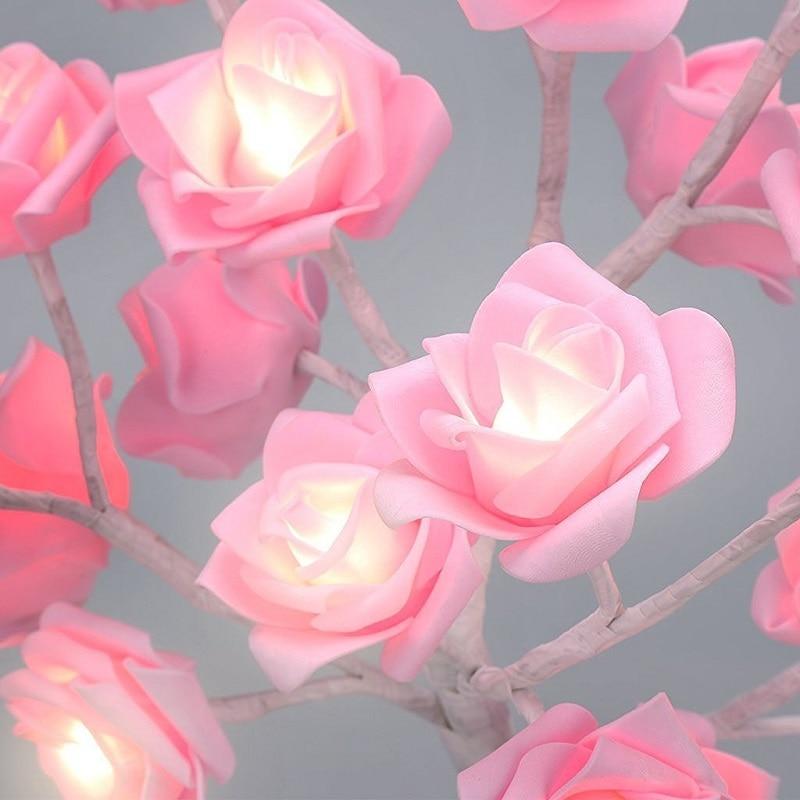 Llamba LED Tela trëndafilash Dritat LED Garland Dritat e - Ndriçimi i pushimeve - Foto 5