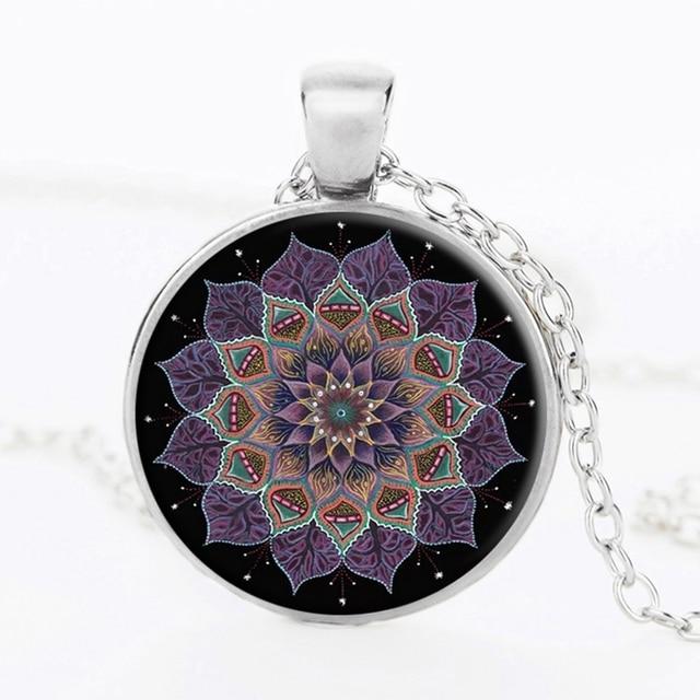 Suteyi Henna Yoga Necklace Handmade Jewelry Om Symbol Zen Buddhism