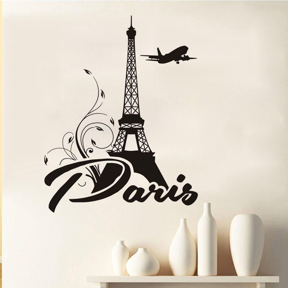 Dctop Paris Eiffel Tower Wall Sticker New Design Diy