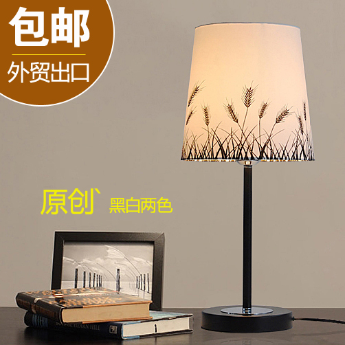 Modern European fashion bedroom bedside lamp lamp black and white decorative light adjustable warm LED lateness and modern european literature