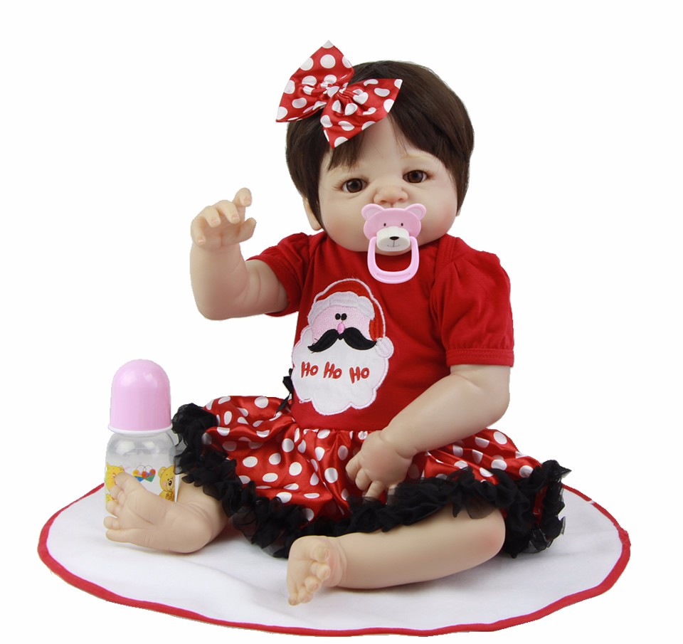 Bebe doll reborn 55cm Realistic full silicone  body Vinyl reborn baby girl dolls toys For child Birthday gift lalka rebornBebe doll reborn 55cm Realistic full silicone  body Vinyl reborn baby girl dolls toys For child Birthday gift lalka reborn