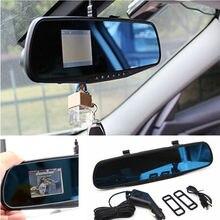 Автомобиль внедорожник тахограф 2,8 «HD Камера Ночное видение Зеркало заднего вида Регистраторы 120 градусов Широкий формат Поддержка g-сенсор регистраторы