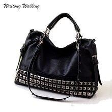 Luxury Handbags Women Bag Designer Leather Brand Handbag Rock Motorcycle Rivet Bags Bolsa Feminina Shoulder Bag b158