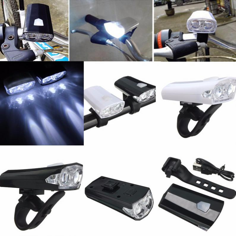LED Front Head Headlight USB Rechargeable Bicycle Light 3 Modes Super Bright LED Light