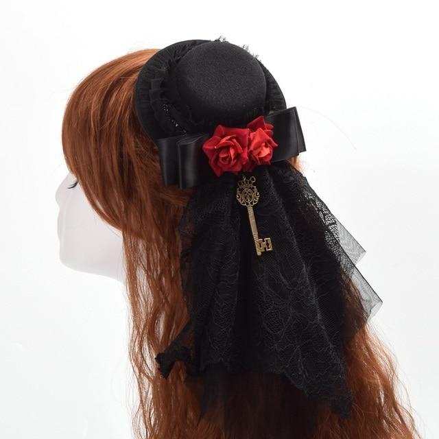 Шляпка готическая лолита вариант 4