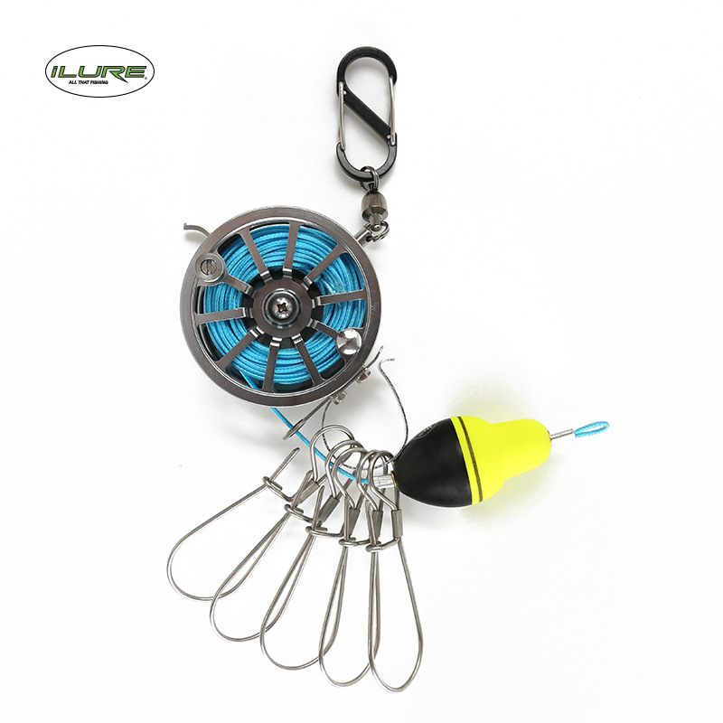 ilure Lock fish buckle waist hanging telescopic portable live fish lock fishing wheel control fishilure Lock fish buckle waist hanging telescopic portable live fish lock fishing wheel control fish