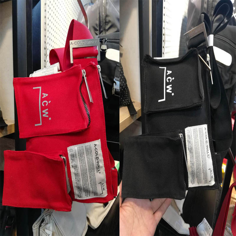 A-COLD-WALL* Waist Packs Bag 2019 New Men Women Casual A-COLD-WALL Bags Canvas   Multifunction ACW Pack 21cm*22cm*2cm