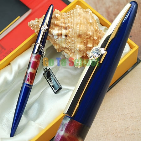 PICASSO 988 WORLD PEACE BLUE HOODED F NIB FOUNTAIN PEN WITH ORIGINAL BOX picasso picasso ps916f light blue