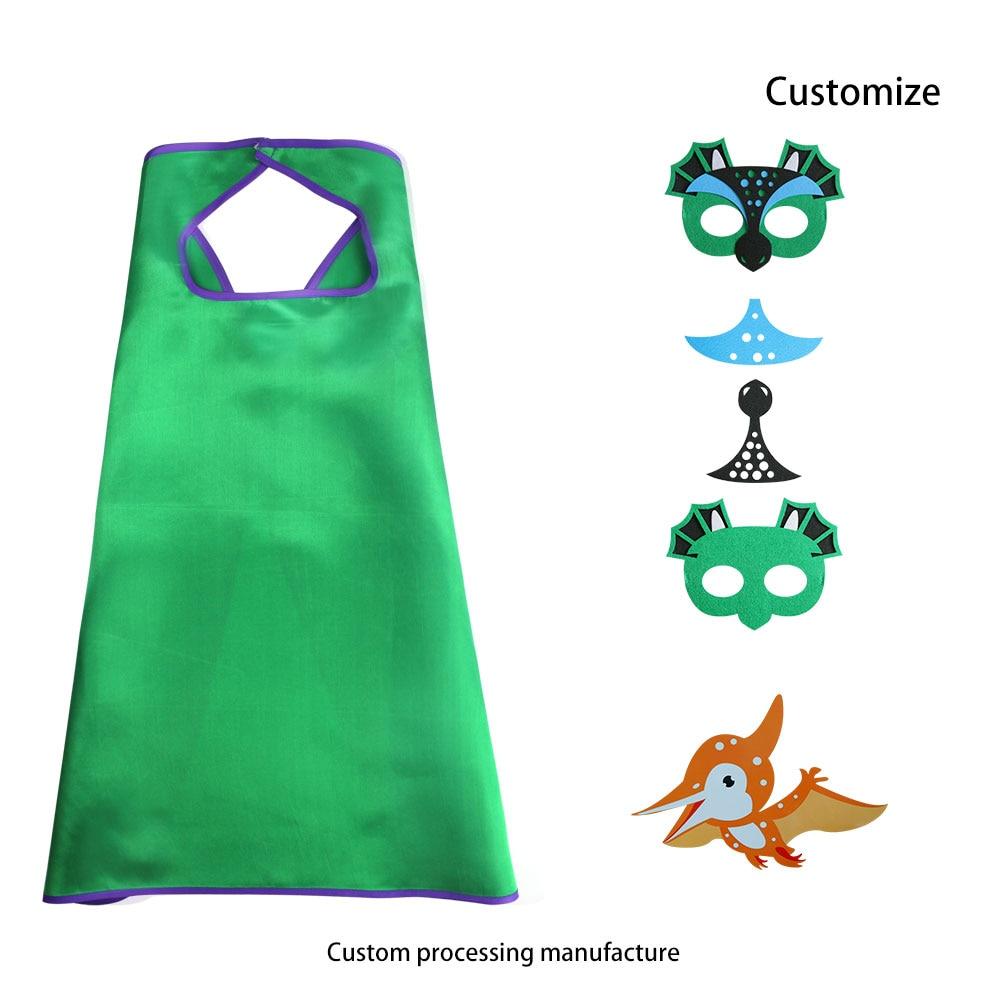 D.Q.Z 70 * 70 cm DIY Fancy voelde versheid groen masker Single Cape - Carnavalskostuums