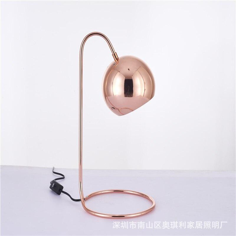 Modern Table Lamp For Study Room Contemporary Desk Lamp Bedside Lamp lampara de mesa Metal Plating Table Lamp