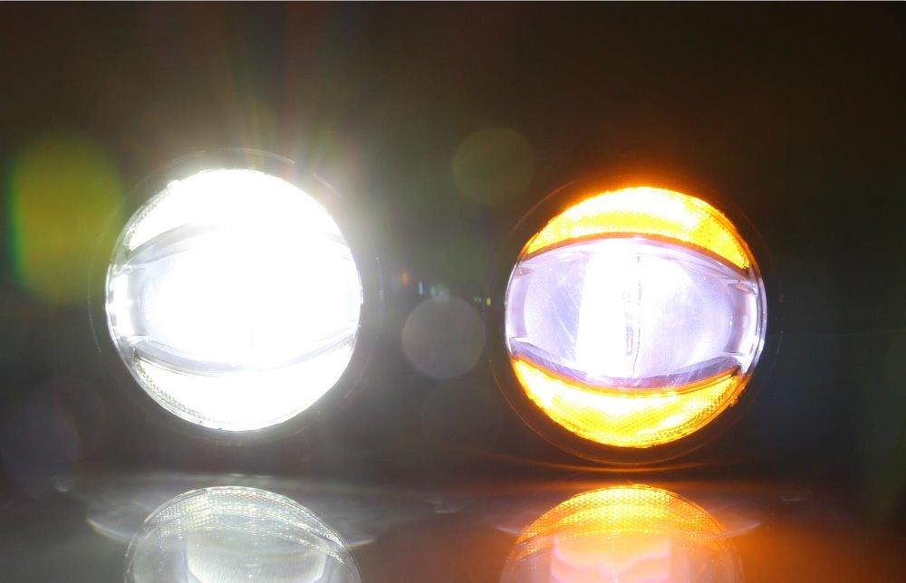 Osmrk светодиодные противотуманные лампы + дневного света для Honda CRV Civic Jazz Fit городе brv insight CRZ BRIO N Box N один WGN