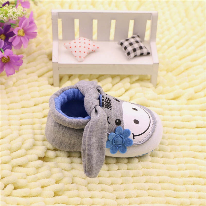 Soft cartoon donkey baby boys girls infant shoes baby slippers 0 6 6 12 new style