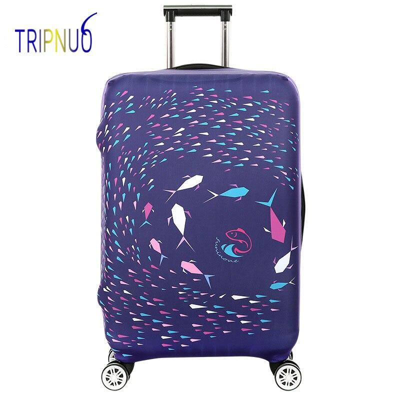 TRIPNUO дорожные аксессуары чемодан защитные чехлы эластичность рыбы Чемодан Чехлы для 18-32 дюймов толстый чемодан Крышка ...