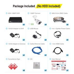 Image 5 - Tonton 8CH 1080 P 5 in 1 DVR CCTV System 2.0MP IR Nachtsicht Indoor Outdoor Sicherheit Kamera video Überwachung Kit Video Ausgang