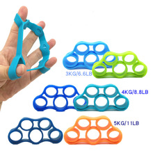 Silicone Finger Trainer Resistance Bands Finger Gripping Exerciser Strength Wrist Hand Grip