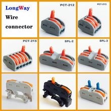 Wire Connectors plug in 2pin 3pin push-in cable Connector Terminal Block SPL-2 212 type mini fast Electrical wire connector(China)