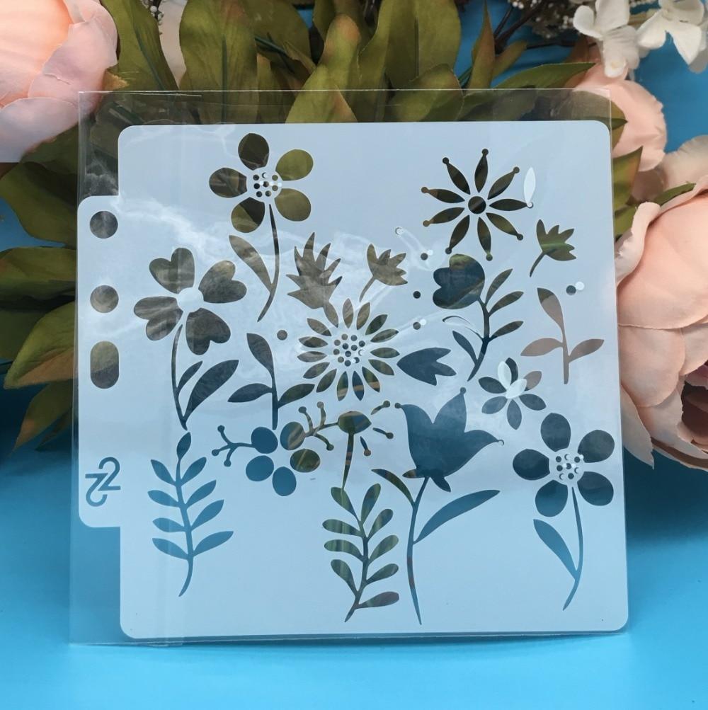 13cm New Flower Plum DIY Layering Stencils Wall Painting Scrapbook Coloring Embossing Album Decorative Paper Card Template