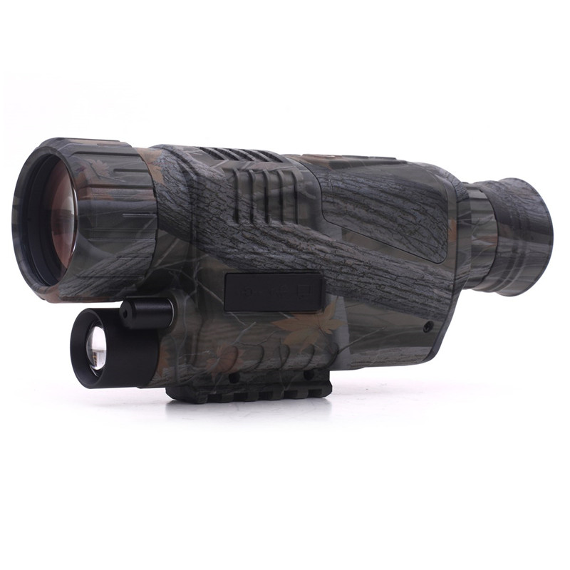 Hunting Optics Powerful Infrared Spotlight Dark Night Vision 5X40 Monocular Telescopes Scope for Outdoor Wildlife Observation