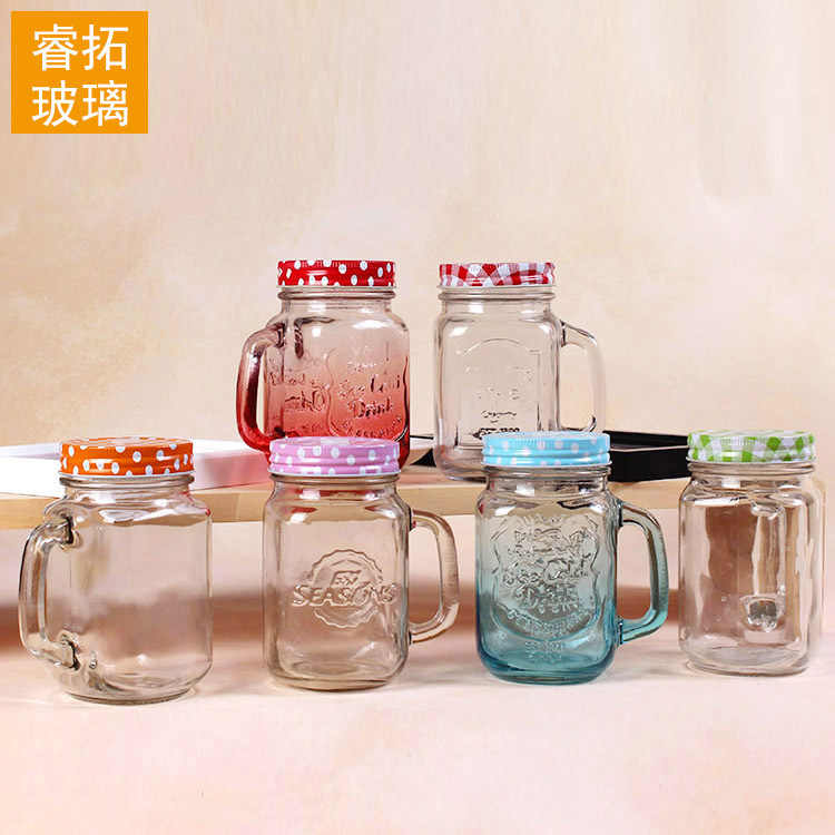 400ml Creative color gradually changing Mason cup, cock cup  water and juice cup  tea bottle  my cute water bottle