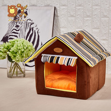 DannyKarl Dog House Beds For Small Medium Dogs Pet Products New Fashion Striped Removable Cover Mat for Cat