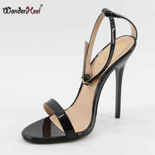 Wonderheel New ultra high heel appr. 14cm stiletto heel ankle strap Sexy High Heel buckle strap fashion women sandals big size(China)