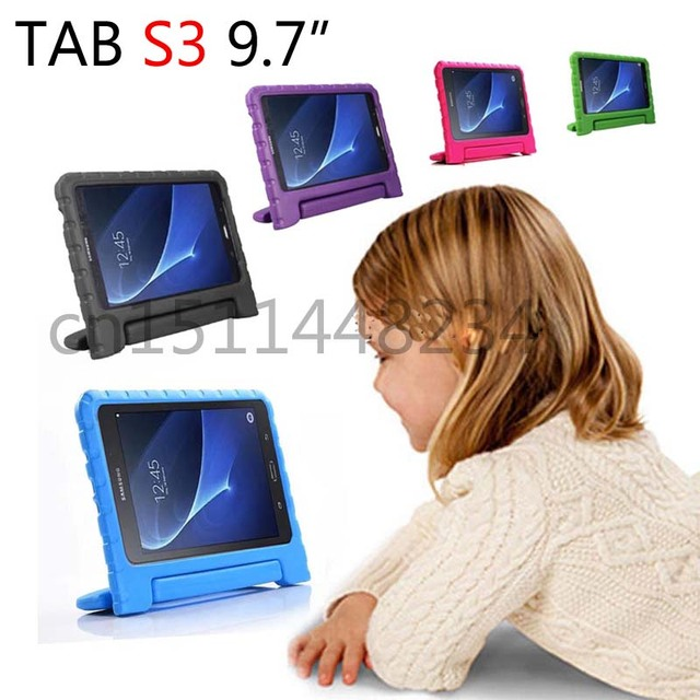 new products e62dc d1e45 US $21.42 |case For Samsung Tab S3 9.7 case child shockproof Tablet cover  For Samsung Galaxy Tab S3 9.7 T820 T825 EVA health silicone shell-in  Tablets ...